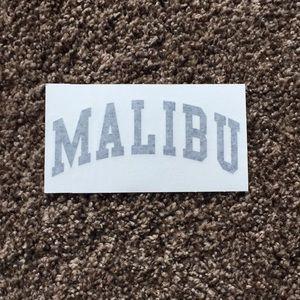 large brandy melville 'malibu' sticker